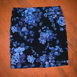 Black floral skirt from Express